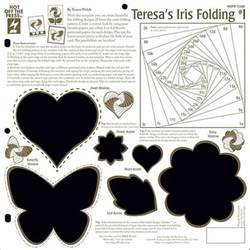 Iris Paper Folding Templates - 53 best images about craft iris folding on