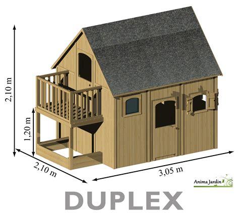 maisonnette enfant en bois duplex mezzanine achat pas