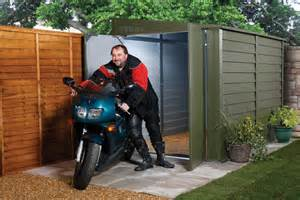 How To Build A Small Outdoor Storage Shed by Trimetal Motorcycle Security Metal Garage Mcg950
