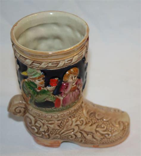Ceramic Cowboy Boot Vase by Vtg Cowboy Boot Vase Decorative Ornament Ceramic Made In
