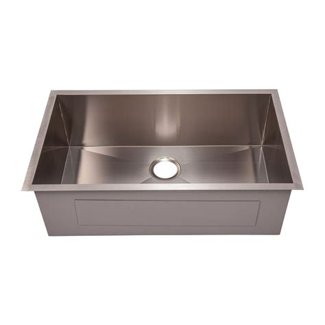Square Sinks Kitchen Vodasinks 12s3219 Square Corner Stainless Steel Sink Lowe S Canada