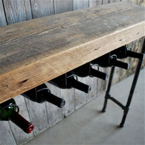 sofa table with pipe legs 3 ft reclaimed wood wine bar and from wood goods