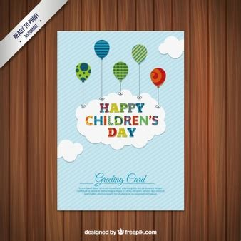 s day card happy children s day illustration vector free
