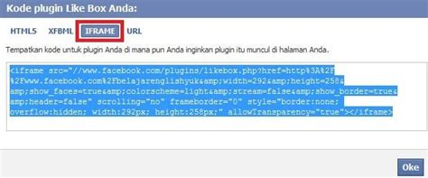 membuat facebook like box di website cara membuat kotak like box facebook di blog web