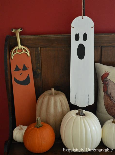ceiling fan blade craft ideas ceiling fan blade ghost and pumpkin exquisitely