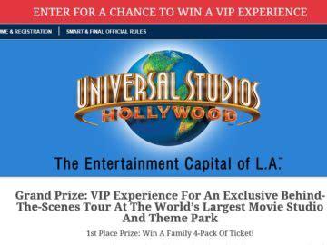 Universal Studios Sweepstakes - universal studios hollywood s f sweepstakes select states