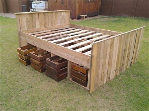 bed frame pallets pallet bed frame design 99 pallets