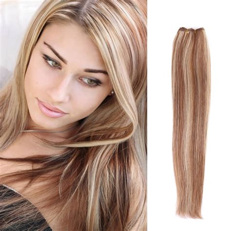 brown and blonde weave 100 brazilian remy human hair weave hair extensions 6 613