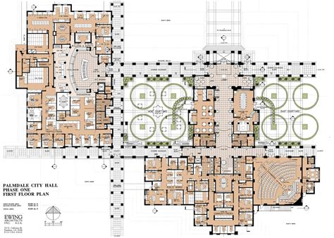 civic center floor plan palmdale civic centerpalmdale ca ewing architects