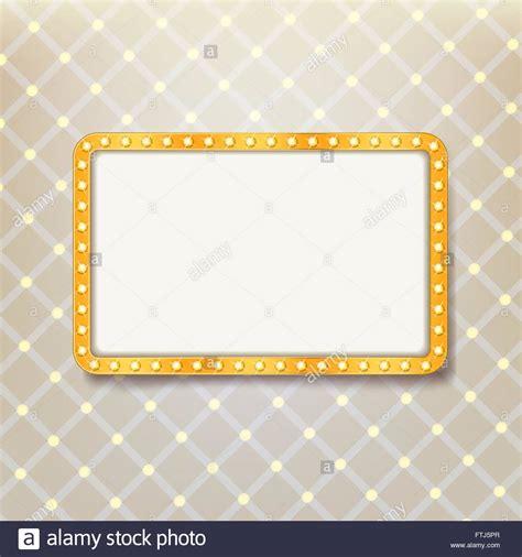 royal pattern frame golden retro frame with light bulbs on royal pattern