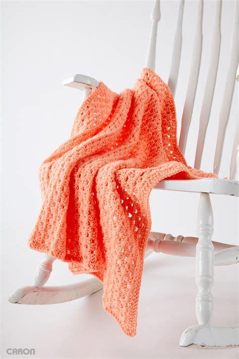Easy Baby Blanket by Caron Easy Peasy Baby Blanket Crochet Pattern