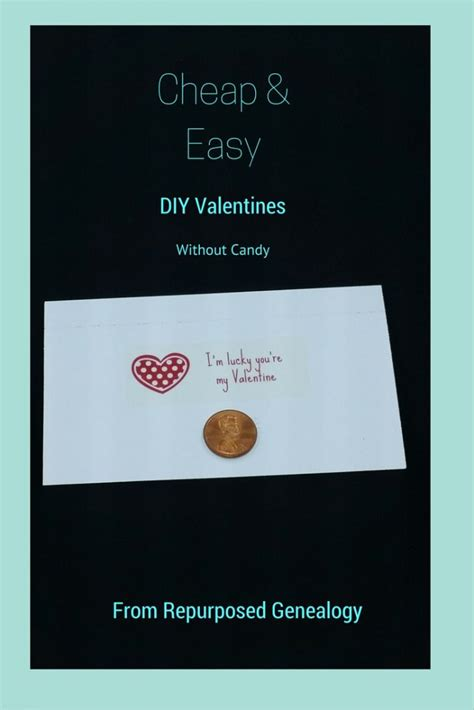 valentines cards cheap diy cheap easy valentines repurposed genealogy