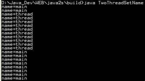 java pattern interrupt thread name thread attributes 171 threads 171 java