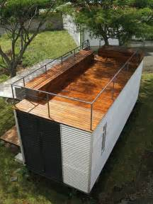 Show Me A Picture Of A Cupola Rooftop Deck On A Shipping Container Home Cabin Cabin