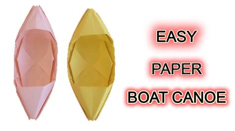 how to make a paper boat out of a4 how to make a paper boat canoe paper ship youtube