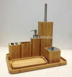 bamboo bathroom accessories set wooden bathroom accessorie spa sets bamboo bathroom