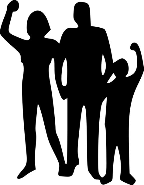 clipart famiglia free vector graphic family child