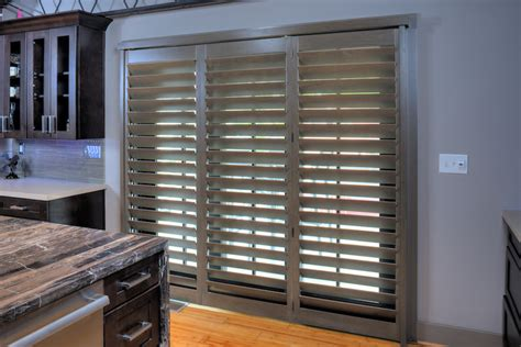 sliding patio door shutters plantation doors shutter on door