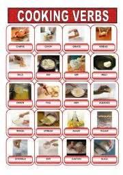 teaching worksheets cooking verbs