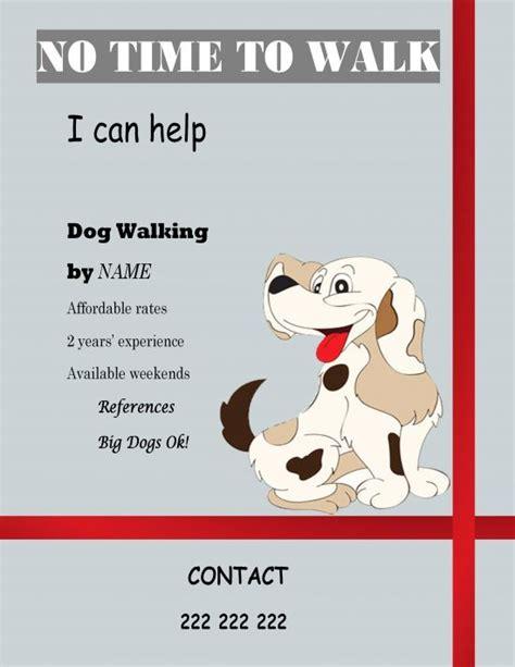 Free Templates Dog Walking Dog Walking Flyer Certificate Dog Walking Dog Walking Flyer Dogs Free Walking Templates