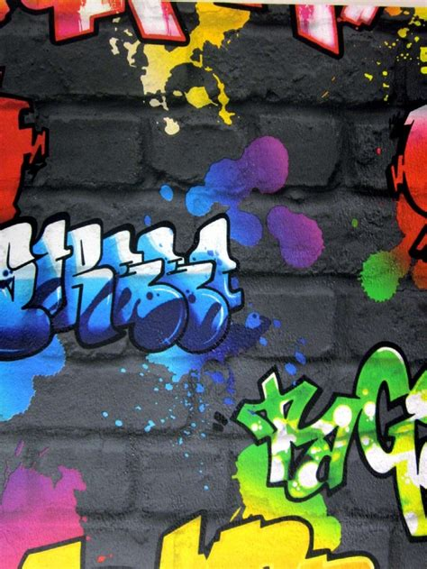 graffiti wallpaper rolls rasch graffiti bright wallpaper graffiti pinterest