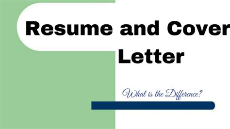 Difference Between Resume And Cover Letter by Resume And Cover Letter What Is The Difference Wisestep