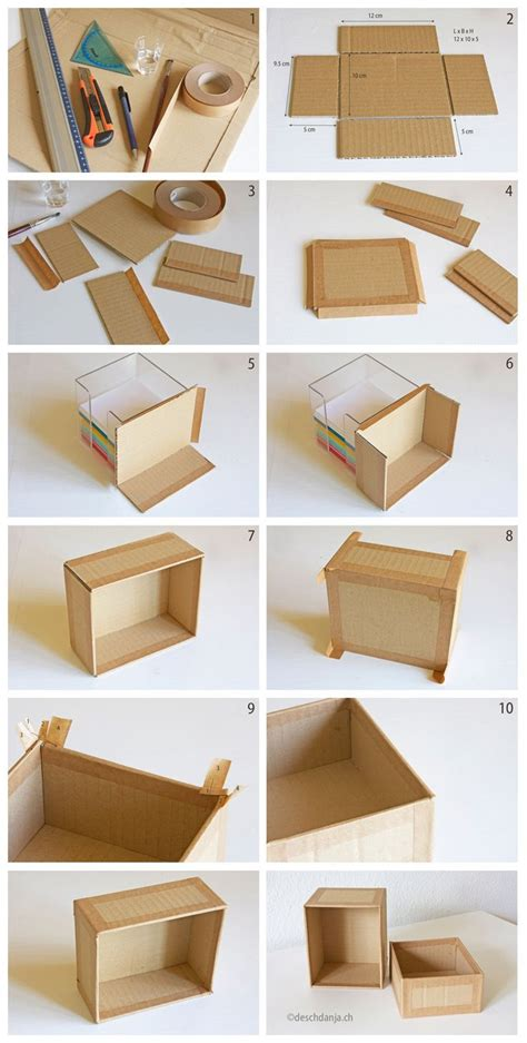 diy storage box ideas how to make your own cardboard box www deschdanja ch