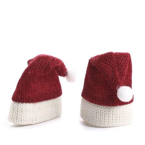 miniature knitted santa hats doll hats doll making