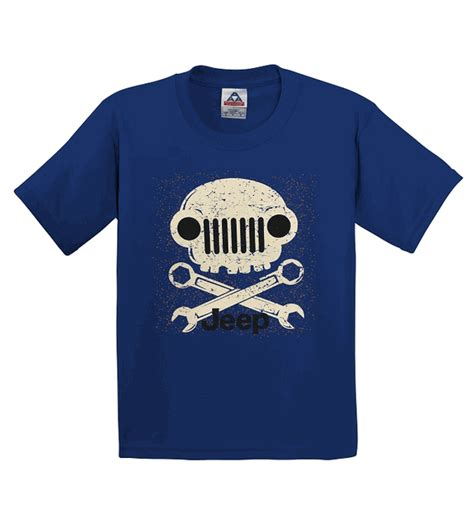 royal blue jeep all things jeep jeep grill skull youth t shirt in royal blue