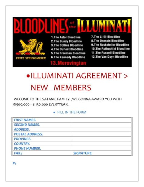illuminati membership illuminati agreement 187 satani join the great illuminati