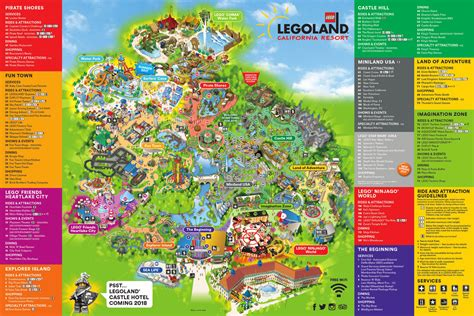 amusement parks california map theme park brochures legoland california resort theme