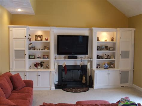 Entertainment Center Around Fireplace by Custom Painted Entertainment Center By Stephen Cabitt