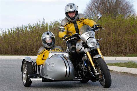 Motorrad Mit Beiwagen Rechtskurve by Norton Commando 961 Schwenker Umbau Mit Adler Seitenwagen