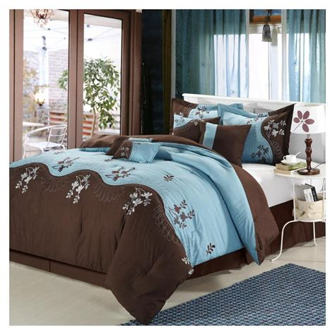 blue and brown queen comforter sets fabulous blue brown queen comforter with flowers