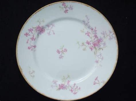 Cottage Garden China - gda charles field haviland limoges vintage pink floral china plates