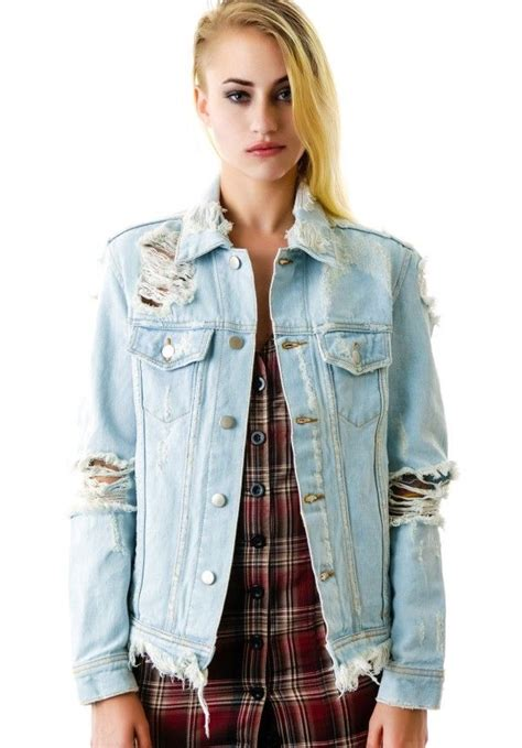 Premium Denim Jacket Ripped 1000 images about destroyed on booties
