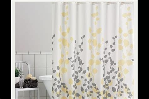 gray and yellow curtain yellow and grey shower curtains home sweet home pinterest