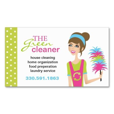 eco friendly cleaning services business cards make your
