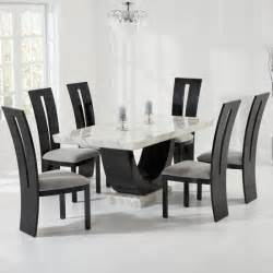 black marble dining table and chairs 5926
