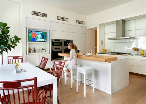 kitchen tv ideas ambassador residence contemporary kitchen chicago
