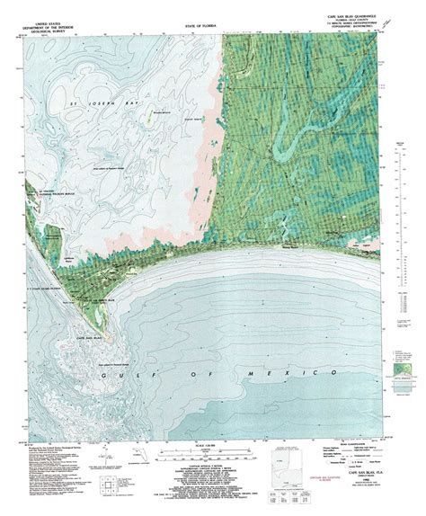 cape san blas florida map cape san blas topographic map fl usgs topo 29085f3