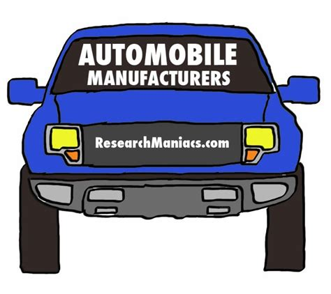list   major automobile manufacturers