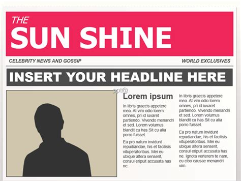 powerpoint design newspaper 무료 ppt 템플릿 신문 잡지 언론 디자인 파워포인트 테마 당신을 위한 정보 프레젠테이션 신문