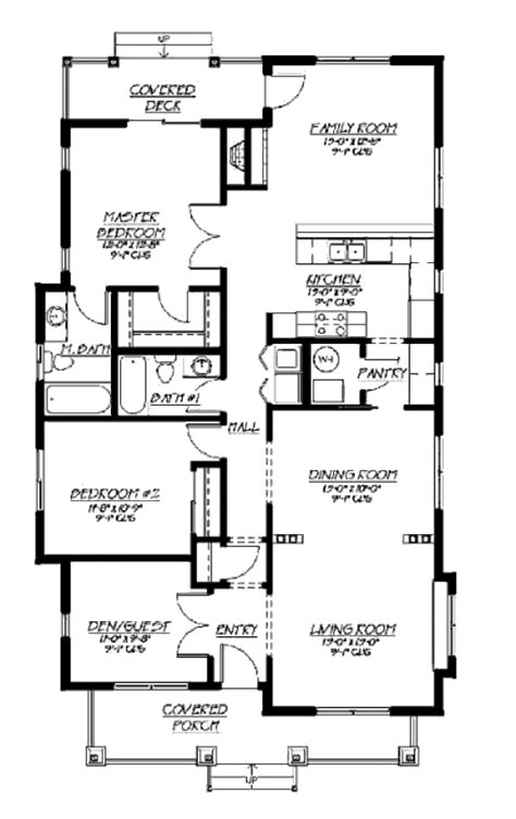 1500 square foot floor plans craftsman style house plan 3 beds 2 baths 1500 sq ft