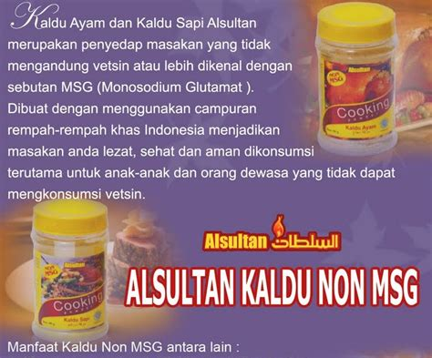 Alsultan Pengempuk Daging Alami 90gr kaldu non msg alsultan murah brosur kaldu non msg
