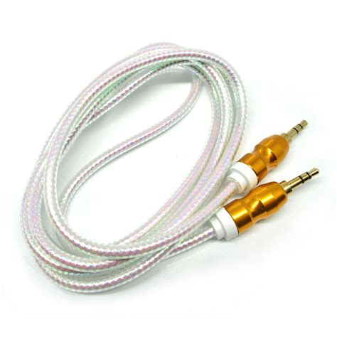 Kabel Audio Aux 3 5mm kabel audio aux 3 5mm gold plated hifi 1 5 meter white