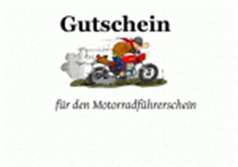 Motorradtour Verschenken by Motorradfuehrerschein Als Gutschein Vorlagen Muster