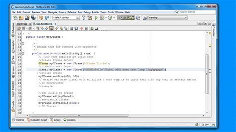java swing jlabel how to set jlabel word wrap in java swing programing for
