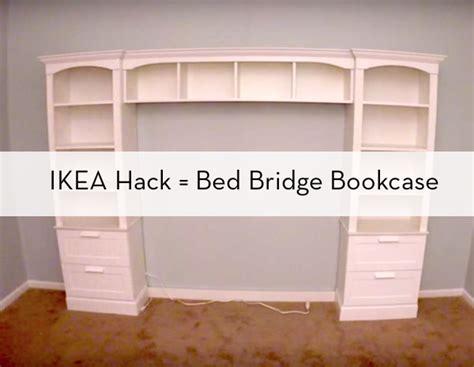 build  bed bridge bookcase  ikea bookcases