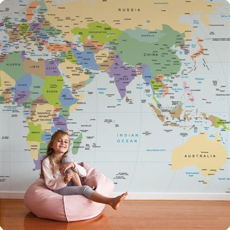wall sticker map of the world buy removable wall mural world map design